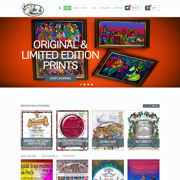 e-commerce Art Site