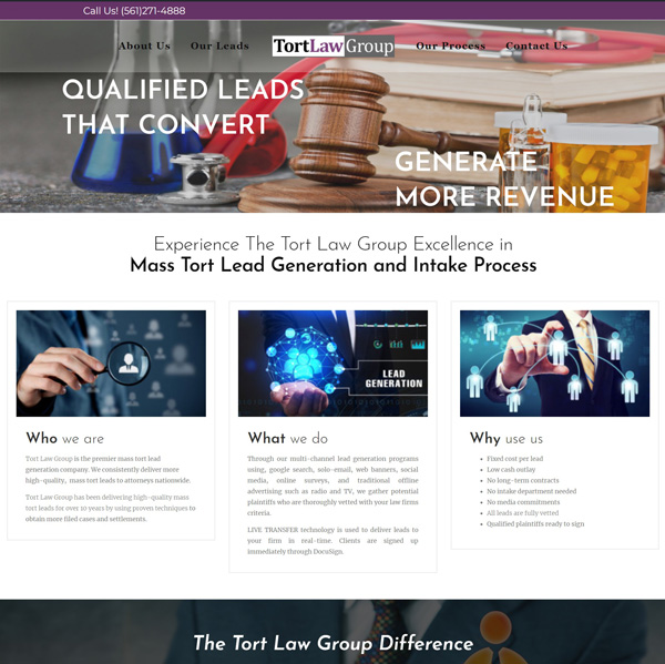 Legal Lead Generation Company website