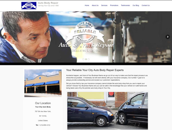 Auto Body Repair Website