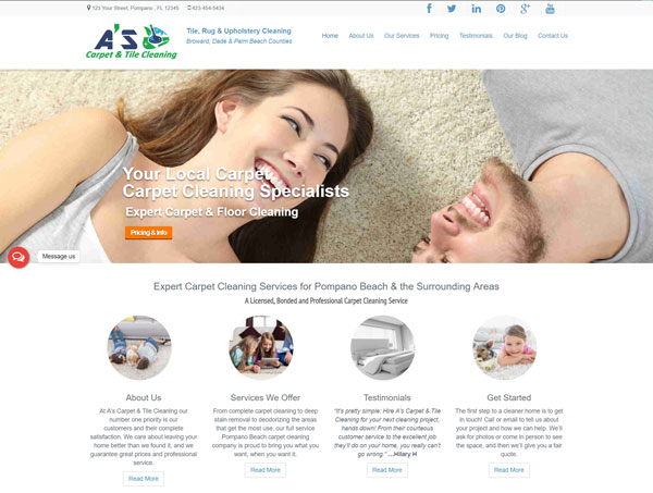 Carpet & Tile Cleaning Website
