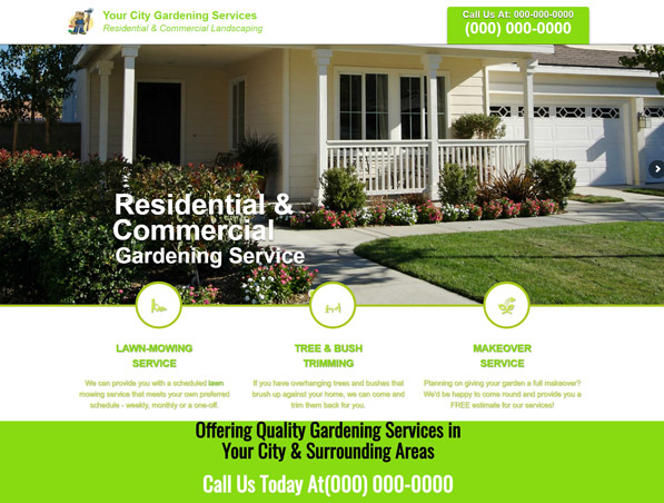 Gardening and Landscaping Website