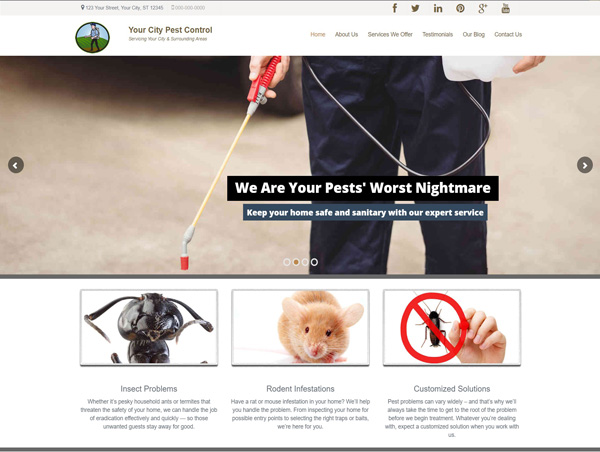 Pest Control Website