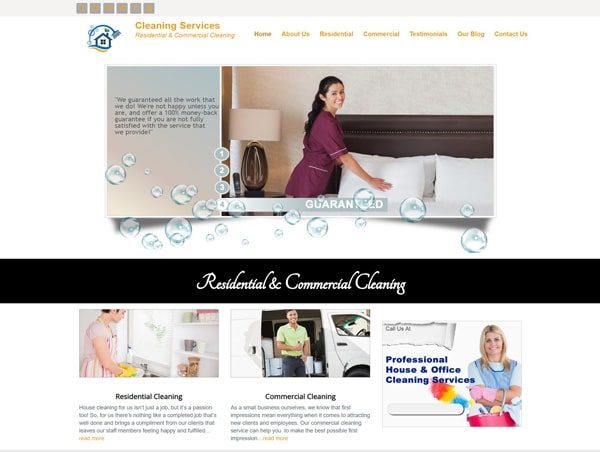 Cleaning Services Website