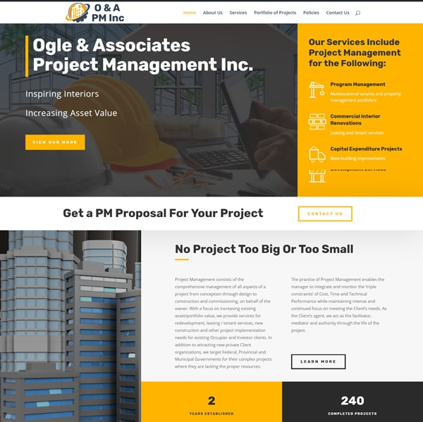 Project management website