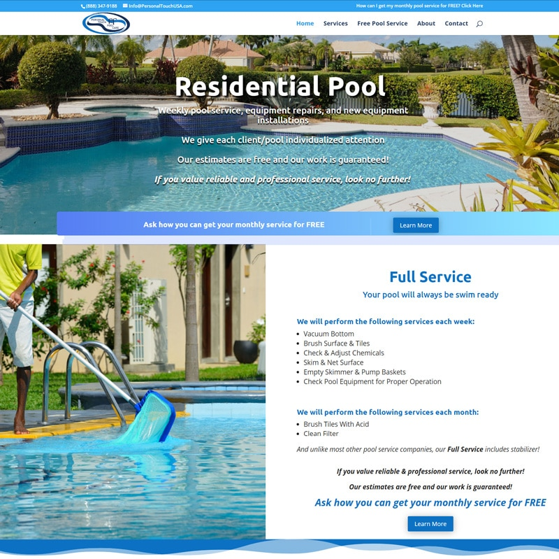 Pool Service Website