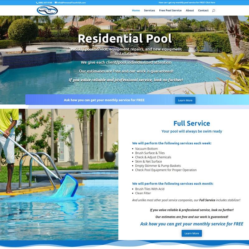 Pool Service Website